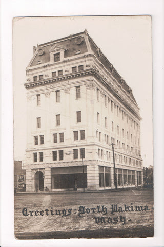 WA, North Yakima - Masonic Temple - Fry the Druggist - RPPC - F09043