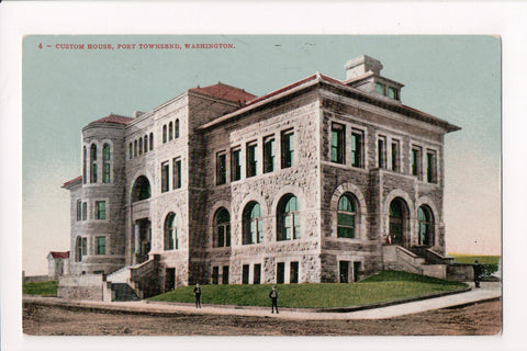 WA, Port Townsend - Custom House closeup postcard - C04299
