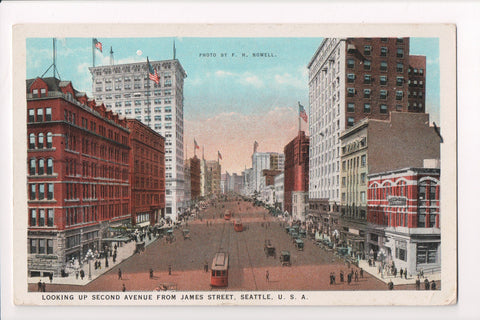 WA, Seattle - Second Avenue from James St - ca 1923 postcard - 800165