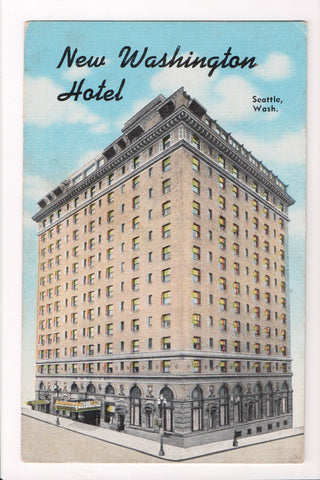 WA, Seattle - Washington Hotel (New) - ca 1952 postcard - A17015