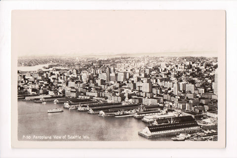 WA, Seattle - BEV city and shoreline - Chas R Laidway RPPC - w02853