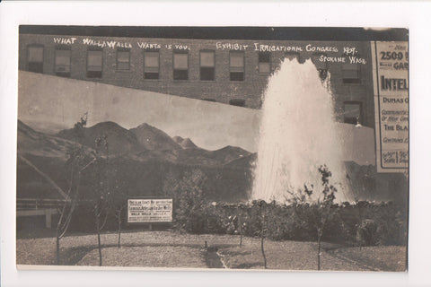 WA, Spokane - Exhibit Irrigational Congress 1909, Gusher Well -  RPPC - F09111
