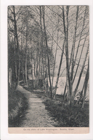 WA, Seattle - Lake Washington - Shore Path and lake postcard - H03125
