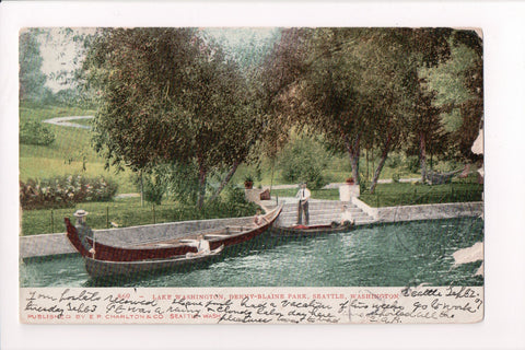 WA, Seattle - Denny-Blaine Park, Lake Washington - Charlton postcard - J03457