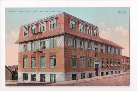 WA, Seattle - Seattle Labor Temple postcard - A17026