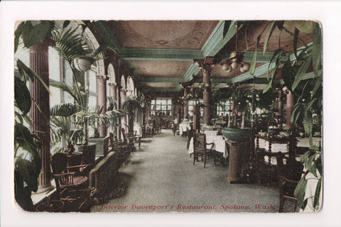 WA, Spokane - Davenport Hotel, Restaurant - great interior shot - w04828