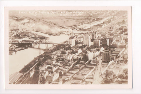 WA, Tacoma - BEV Business District, River (steel) bridges - RPPC - B06070