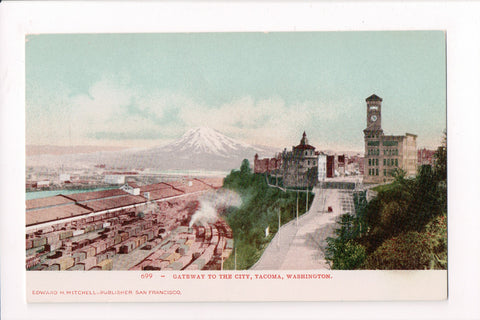 WA, Tacoma - Gateway to the City, BEV postcard - C17289