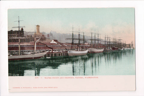 WA, Tacoma - Water Front and Shipping - Edward H Mitchell postcard - C17290
