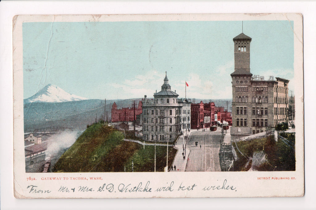 WA, Tacoma - Gateway to the city, BEV postcard - D04090