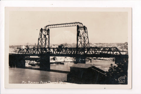 WA, Tacoma - Steel Bridge closeup, Vermont Marble Co RPPC - R00324
