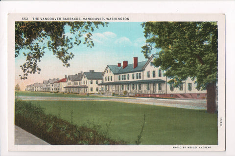 WA, Vancouver - Vancouver Barracks postcard - D17437