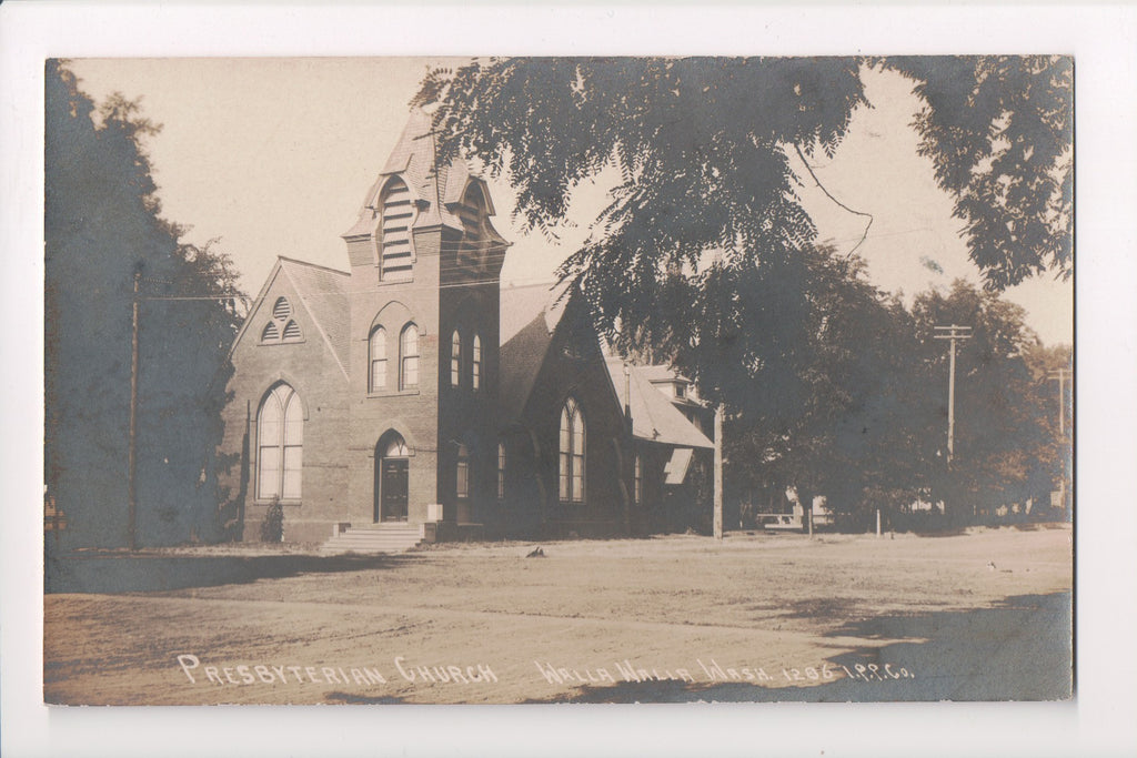 WA, Walla Walla - Presbyterian Church, RPPC - IPP Co - G06013