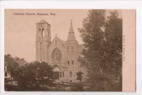 WI, Baraboo - Catholic Church, Buckley and Taylor postcard - C08123