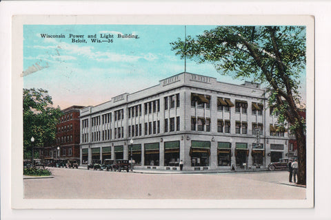 WI, Beloit - Wisconsin Power and Light Building postcard - D08247