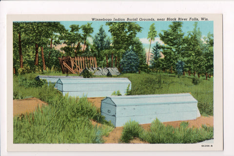 WI, Black River Falls - Winnebago Indian Burial Grounds closeup - A17294
