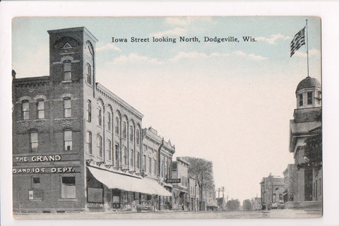 WI, Dodgeville - Iowa St, The Grand 5 and 10 cent Dept postcard - J06070