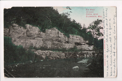WI, Ellsworth - Elk Hole on Lost Creek, @1906 postcard - SL2058