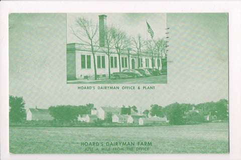 WI, Fort Atkinson - Hoards Dairyman Office, plant, and farm postcard - 400008