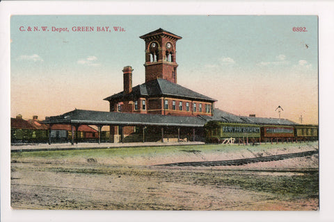 WI, Green Bay - C and N W Depot, train station (ONLY Digital Copy Avail)- C08175