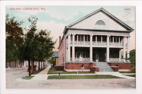 WI, Green Bay - Elks Hall, Bosselman postcard - C08178