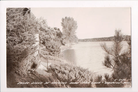 WI, Hancock - Fish Lake, Shore Scene at Huckins Home, RPPC - A07359
