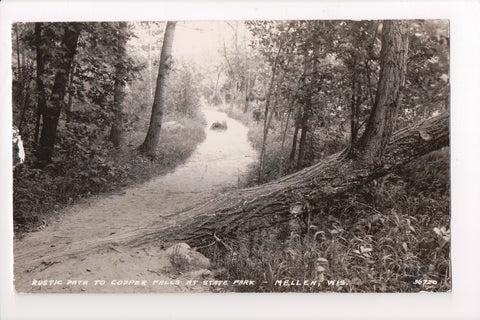 WI, Mellen - Path to Copper Falls in State Park - RPPC - A06705