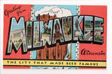 WI, Milwaukee - Greetings from, Large Letter postcard - SL2363