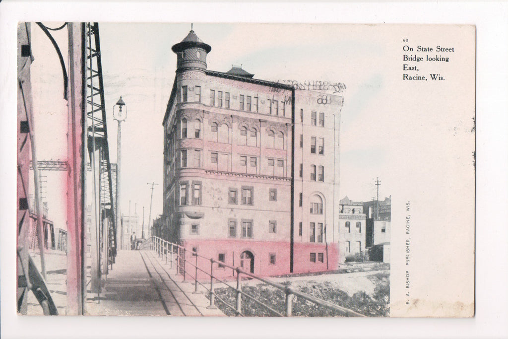 WI, Racine - On State Street bridge (ONLY Digital Copy Avail) - A12518