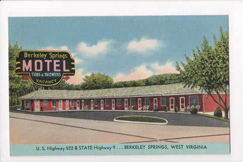 WV, Berkeley Springs - Berkeley Springs Motel, vintage postcard - M-0008