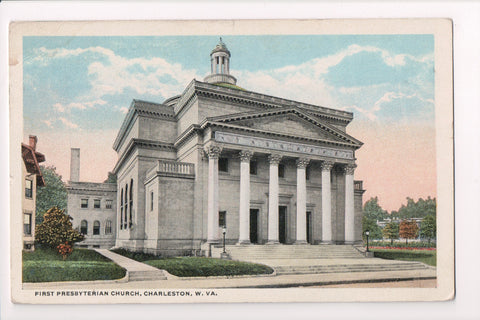 WV, Charleston - First Presbyterian Church, @1916 postcard - 500693