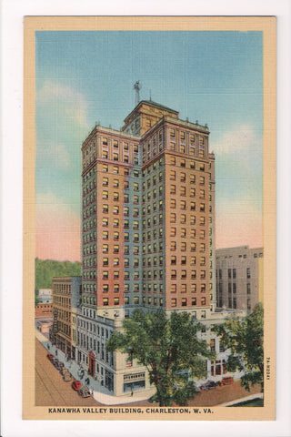 WV, Charleston - Kanawha Valley Building, vintage postcard - CR0416