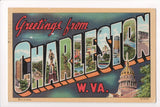 WV, Charleston - Greetings from, Large Letter postcard - CR0507