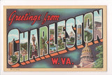 WV, Charleston - Greetings from, Large Letter postcard - MT0008