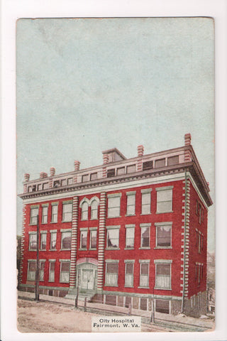 WV, Fairmont - City Hospital, J G Mc Grorey postcard - SL2477