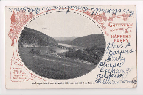 WV, Harpers Ferry - view from Magazine Hill, near Hill Top House - D04055