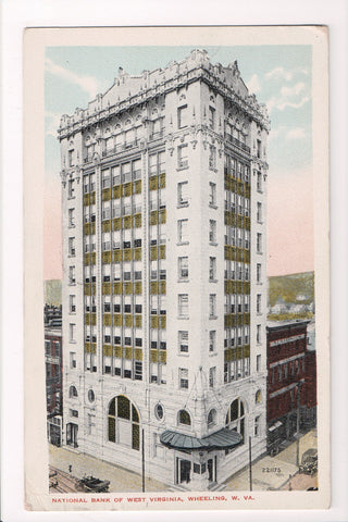 WV, Wheeling - National Bank of West Virginia, @1915 postcard - 500690