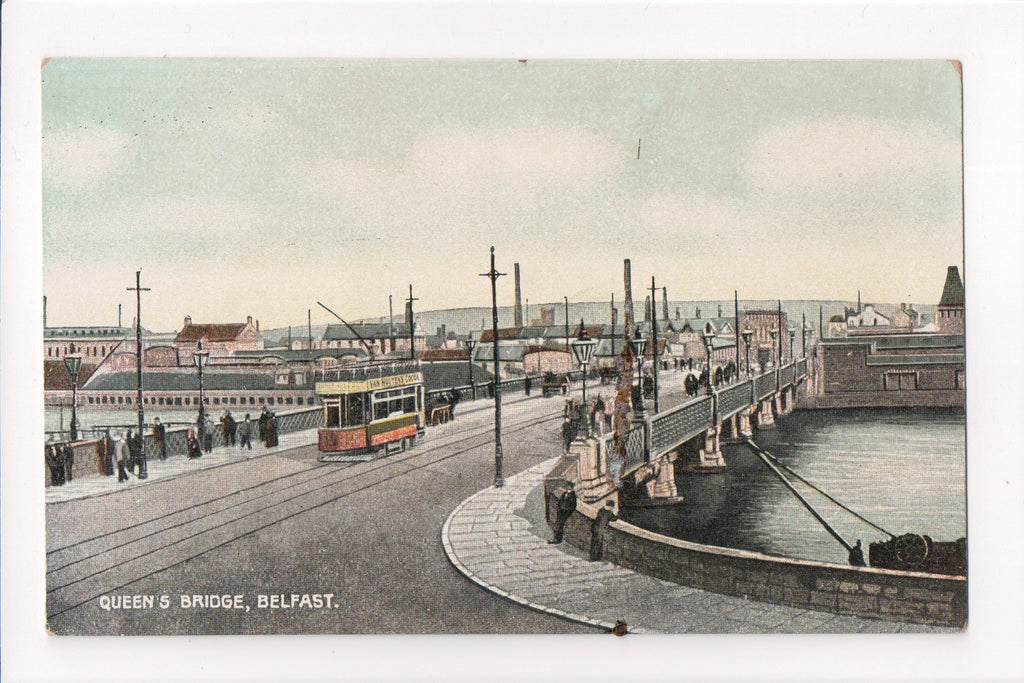 Foreign postcard - Belfast, Ireland - Queens Bridge - w05138