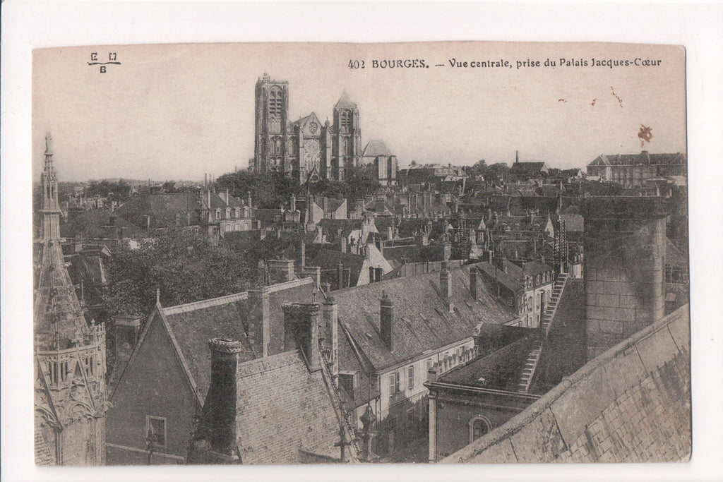 Foreign postcard - Bourges - Bird Eye View - F09198