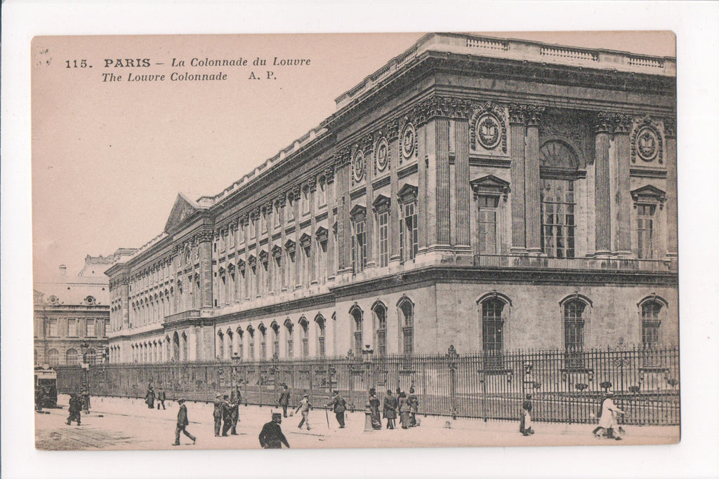 Foreign postcard - Paris - La Colonnade du Louvre - 400038