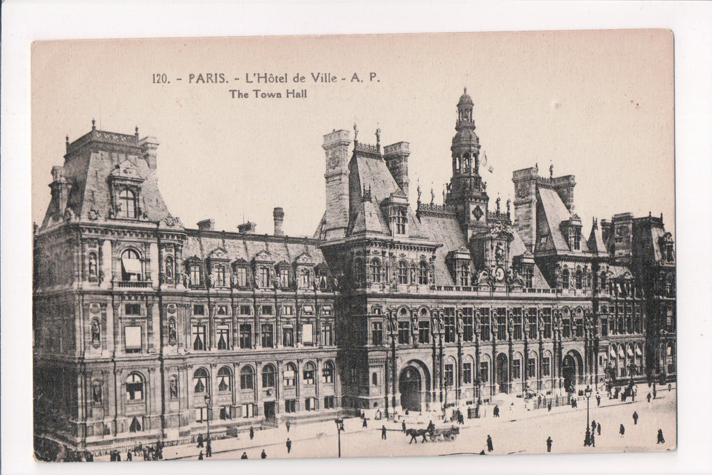 Foreign postcard - Paris - L'Hotel de Ville, Town Hall - 400042