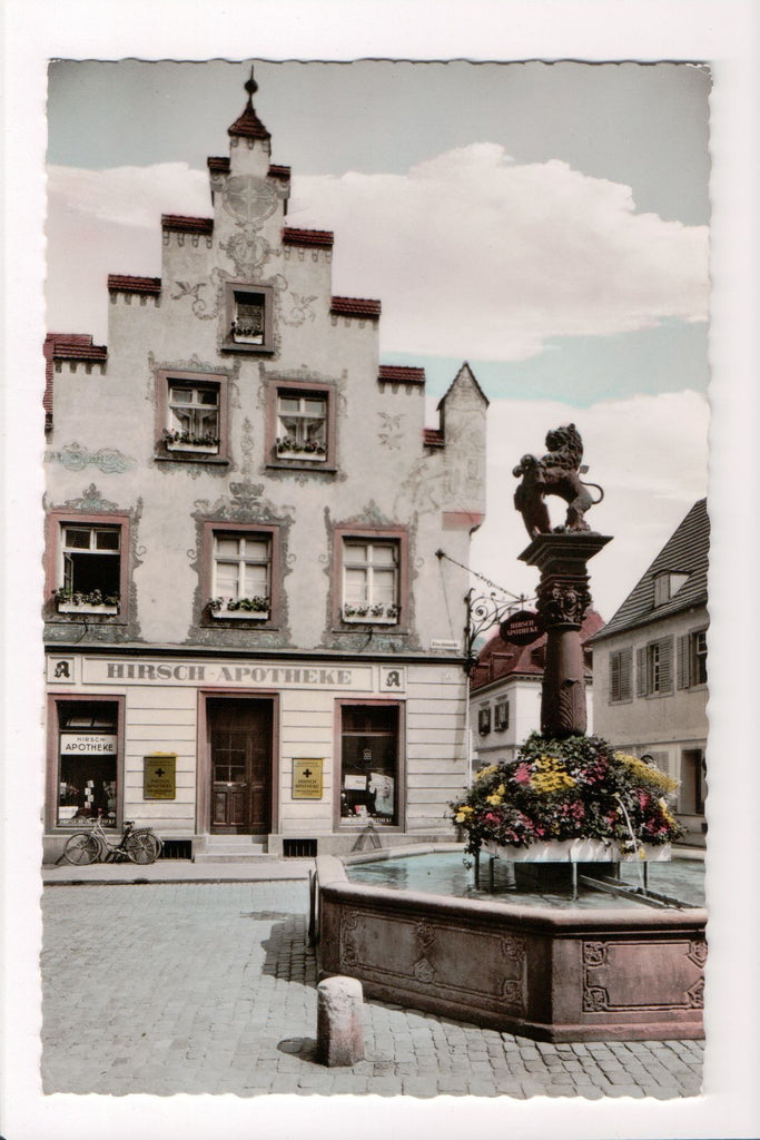 Foreign postcard - Offenburg - Hirsch Apotheke - Germany - w04114