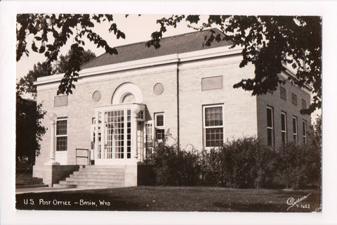 WY, Basin - Post Office, PO - Sanborn RPPC - F11048