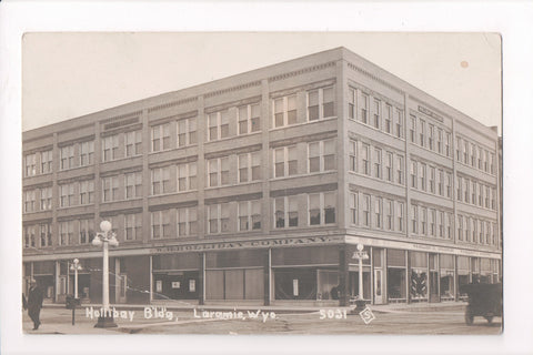 WY, Laramie - Hollibay Building, W H Holliday Co - RPPC - B06062