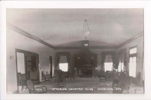WY, Sheridan - Country Club Interior - Real Photo Postcard, RPPC - B06307