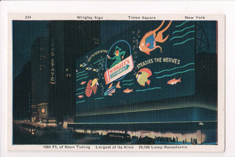 NY, NYC - WRIGLEY SPEARMINT GUM advertisement, neon sign - I03049