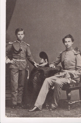 Misc Military - Ludwig II and Otto von Bayern - german uniforms - B11192