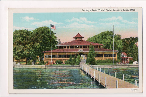 OH, Buckeye Lake - Yacht Club - @1954 postcard - cr0537