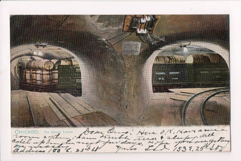 IL, Chicago - The ILLINOIS TUNNEL interior, RAIL CARS, KEGS, CABLES - E10425
