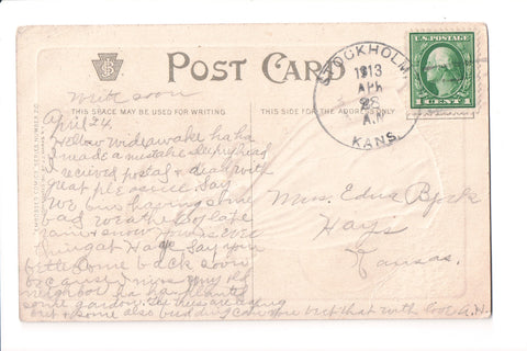 pm DPO - KS, Stockholm - 1913 cancel - Helbock S/I #4 - boC17694